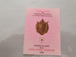 15138       CARNET DE TIMBRES NEUFS FRANCAIS CROIX ROUGE  ANNEE 1966 - Croix Rouge