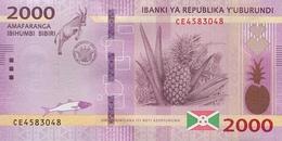Burundi (BRB) 2000 Francs 2018 (2019) UNC Cat No. P-52b / BI238b - Burundi