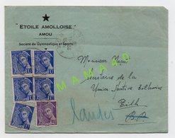 ENVELOPPE DE 1939 - 40 - AMOU - ETOILE AMOLLOISE - SOCIETE DE GYMNASTIQUE ET SPORTS - Gymnastiek