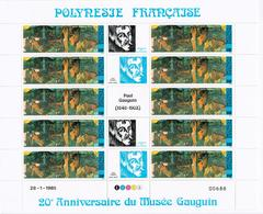 Feuille Complète Avec Coin Daté (numéro 688) POLYNESIE 1985  Poste Aérienne N°186A - GAUGUIN - Neuf** - Neufs