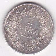 Vatican 1 Lira 1866 Année XXI, Pie XI, En Argent , Superbe - Vatikan