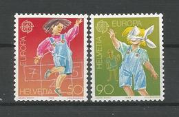 Switzerland 1989 Europa Child's Play Y.T. 1323/1324  ** - Switzerland