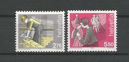 Switzerland 1989 Handicrafts Y.T. 1325/1326  ** - Switzerland