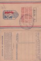 59 Caudry, Carte Du Groupement National Des Réfractaires Et Maquisards. - Historische Documenten
