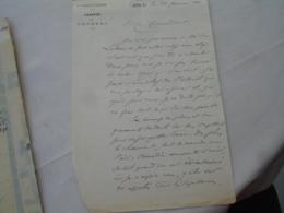 Rigollet Joseph Perpignan  Lot 2 Lettre Autographe Pour Appui Avancement Militaire - Autogramme & Autographen