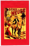 CP Pub /  Repro Affiche Bières De La Meuse, Homme à Cheval Et Serveuse, Brasserie De Sèvres Et De Bar-le-Duc, Enseigne - Publicité