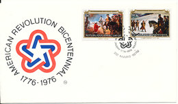 Rwanda Rwandaise FDC 22-3-1976 U.S. Bi-Centennial 1776 - 1976 With Cachet - Ruanda