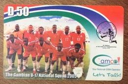 GAMBIE FOOTBALL CAMCEL D50 CARTE PRÉPAYÉE PREPAID PAS TÉLÉCARTE PHONECARD - Gambia