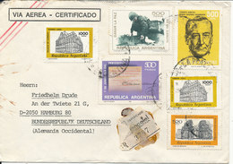 Argentina Registered Cover Sent To Germany 1980 With Topic Stamps - Argentina