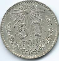 Mexico - 50 Centavos - 1944 M - KM447 - Mexico