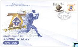 Sri Lanka Stamps 2019, Bradby Shield, Rugby Football, Royal, Trinity, Special Commemorative Cover - Sri Lanka (Ceylon) (1948-...)