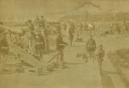 France Guerre Franco-Prussienne Paris Batterie De Siège Ancienne Photo 1870 - Guerra, Militares
