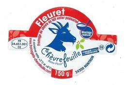 étiquette Fromage Fleuret Chevrefeuille  Chevre Nontron  Dordogne 24  FR 24 451 001 CE - Fromage