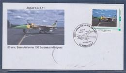 = Meeting Aérien De La Base Aérienne De Bordeaux Mérignac Les 13 & 14 Mai 2017 Avion Mythique Jaguar EC-4-11 - Marcofilie (Brieven)