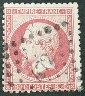 Napoléon III  N° 24 Avec Oblitération Losange Petits Chiffres 472  TB - 1862 Napoleon III