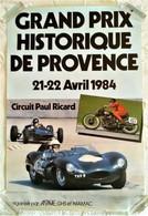 AFFICHE ANCIENNE ORIGINALE GRAND PRIX HISTORIQUE DE PROVENCE CIRCUIT PAUL RICARD 1984 AUTOMOBILE MOTO DE COURSE - Automovilismo - F1