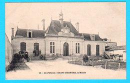 CPA Ile D'OLERON : SAINT-GEORGES, La Mairie - Animation, Vieilles Voitures, N° 78 - Non Circulée - Ile D'Oléron