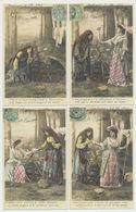 Série De 5 Cartes - Bohémienne Et Marquise - Couleur Et Brillants.. - Femmes