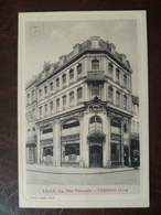 Carte De Visite Façade De Commerce Banque Ed- LELOUX  84, Rue Nationale  - LILLE - Lille