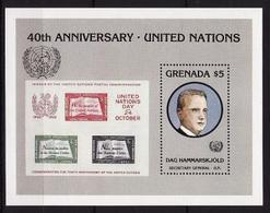 Grenada, 1985, Dag Hammarskjöld, Block UNO - Dag Hammarskjöld