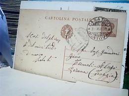 INTERO POSTALE CENTESIMI 30 MICHETTI DA CASATICO MN X TERMOLI FOGGIA  1928 HO8097 - 1900-44 Vittorio Emanuele III