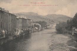 Quillan - L'Aude Et Les Terrasses Sur La Rive - Autres Communes