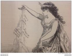1879 Journal LE CHARIVARI  - ACTUALITÉS  Par CHAM - RÉPUBLIQUE FRANÇAISE - MAÎTRESSE DU TEMPS - TAMPON DE TROYES AUBE - 1850 - 1899