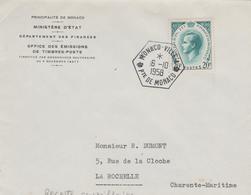 OBLITERATION MONACO-VILLE -A- SUR  (20f Type Rainier I I I ) - Monaco
