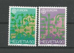Switzerland 1988 Europa Transport & Communication Y.T. 1298/1299  ** - Switzerland