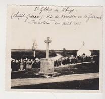 27834 Photo Saint GILDAS De RHUYS 56 France Notre Dame Kerusen Ou Gérande -demolie Aout 1913 -pardon Procession Guéran - Luoghi