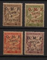 Syrie - 1920 - Taxe TT N°Yv. 5 à 8 - Série Complète - Neuf Luxe ** / MNH / Postfrisch - Timbres-taxe