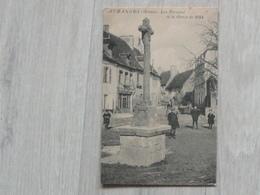 Belle Cpa Auzances  - Les Terroirs Et La Croix De 1684 - Animée - Auzances