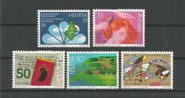 Switzerland 1988 Anniversaries Y.T. 1293/1297  ** - Switzerland