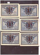 6 NOTGELD DER STADT URNSTADT - TB - [11] Local Banknote Issues