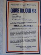 Affiche Reproduction Guerre 1939 1945 Ww2 Libération 1944 FFi Chants Ecole Marcus De Lattre De Tassigny Armée Française - 1939-45