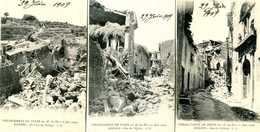 ROGNES =  Tremblement De Terre  11juin 1909:  Lot 2 (3 Cartes)         1484 - Other Municipalities