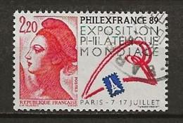 FRANCE:, Obl., N° YT 2461b, RARE, TB - 1982-90 Liberty Of Gandon