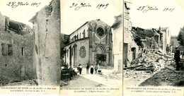 ST CANNAT =  Tremblement De Terre  28 Juin 1909:   (3 Cartes)         1485 - Other Municipalities
