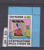 SAN MARINO    2015Stampa 3 D 0,10 Usato - Saint-Marin