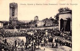 TÂRGOVISTE / DÂMBOVITA : CHINDIA RUINELE Si BISERICA - CURTEA DOMNEASCA - VIZITA REGALA ? / ROYAL VISIT ~ 1905 (aa588) - Romania
