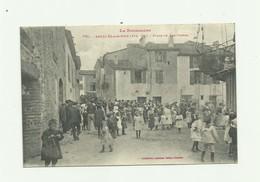 66 - ARGELES SUR MER - Place De Las Portas Trés Grosse Animation Bon état - Argeles Sur Mer