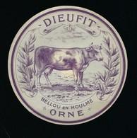 """étiquette Fromage  Dieufit Bellou En Houlme Orne 61 """" Vache Gros Plan"""" - Formaggio"""