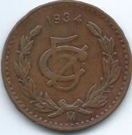 Mexico - 1934 M - 5 Centavos - KM422 - Mexico