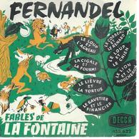"""45 Tours EP - FERNANDEL - DECCA 455622 - """" LE LOUP ET L'AGNEAU """" + 6 - Other - French Music"""