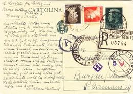 Intero Postale -  Cent. 15 + Cent. 10 + L.1,75 -   Raccomandata Per La Germania - 1900-44 Victor Emmanuel III