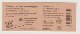 FRANCE - CARNET N° 590 C15 - NEUF** NON PLIE - Marianne De BEAUJARD - Usage Courant