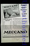 Publicité MECCANO - PONT En Jeux De Construction - Coupure De Presse (illustration) De 1928 - Meccano