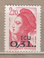 FRANCE 1988 Liberte 0.31 ECU MNH (**) # 20815 - France