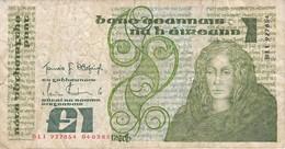 BILLETE DE IRLANDA DE 1 POUND DEL AÑO 1985  (BANKNOTE) - Irlanda