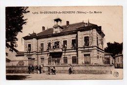 - CPA SAINT-GEORGES-DE-RENEINS (69) - La Mairie (avec Personnages) - Edition FARGES 1429 - - France